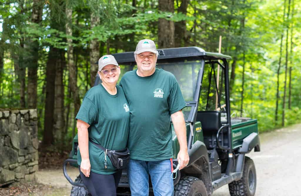 John and Bonnie are park volunteers at Gifford Woods State Park.