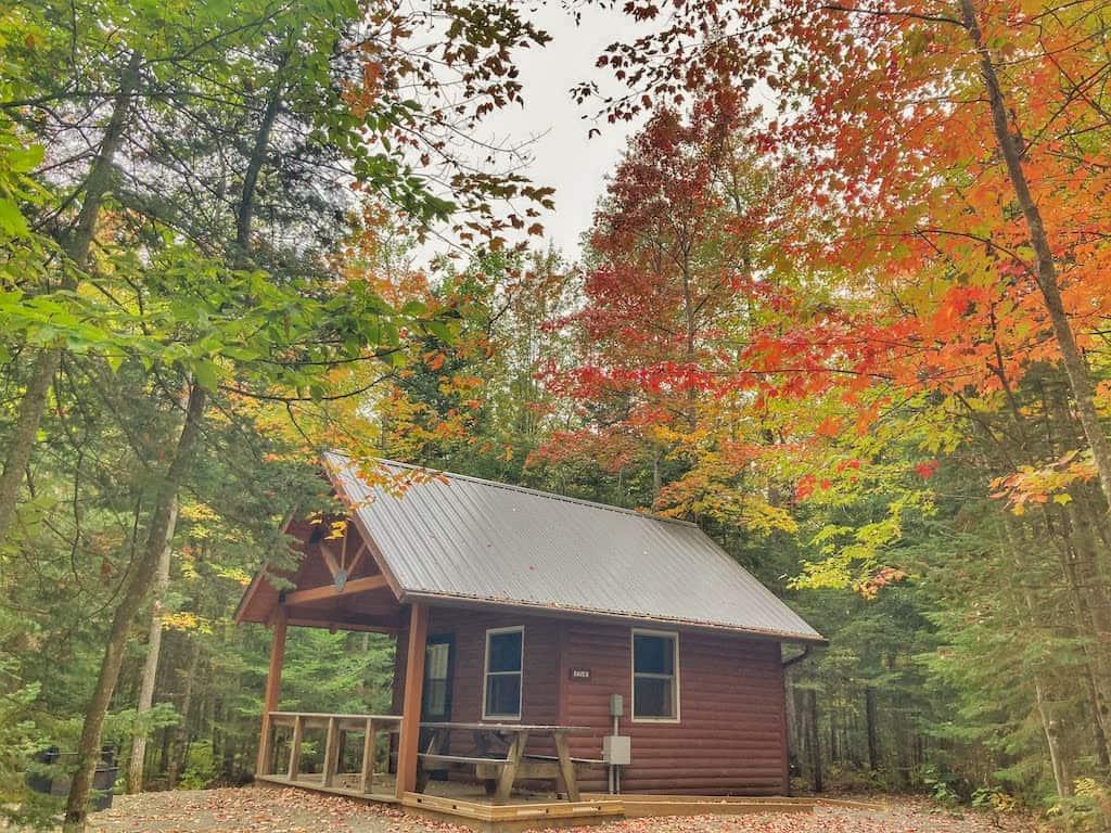 The Raven cabin in Brighton State Park Vermont