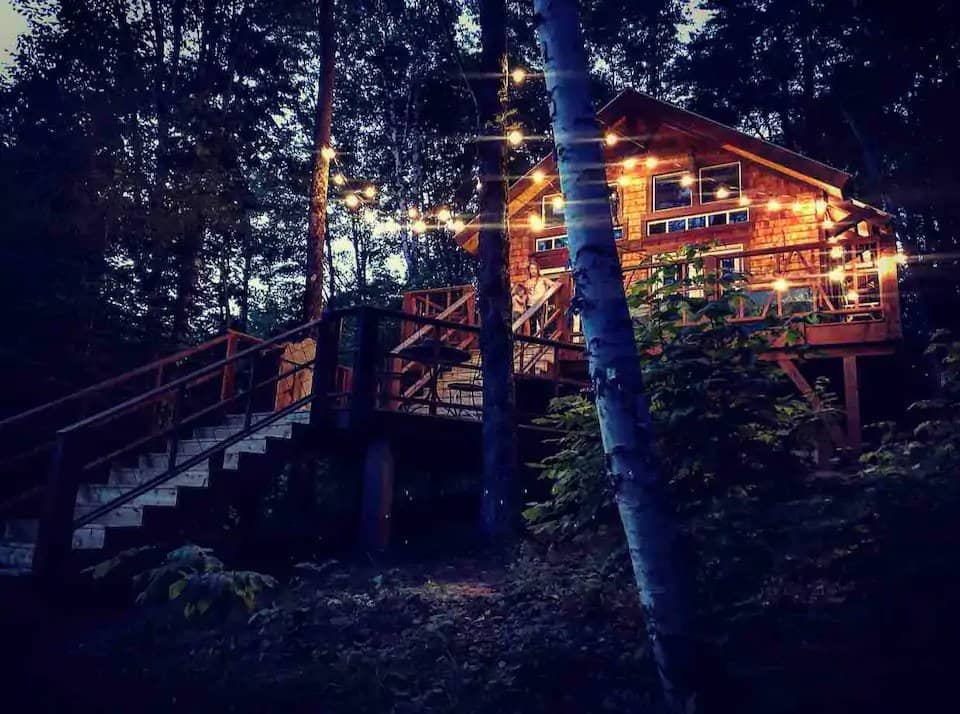 The Outpost Treehouse in St. Johnsbury. Photo Credit: Airbnb