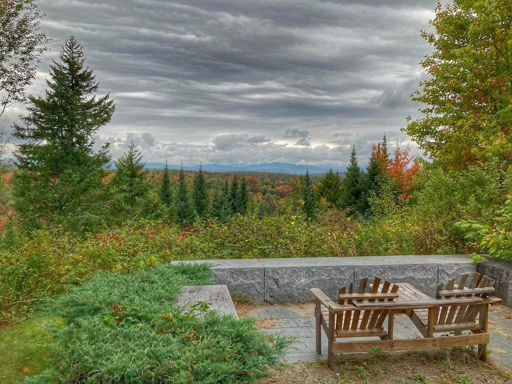 A fall view from the visitor center at Silvio O. Conte National Wildlife Refuge in the Northeast Kingdom of Vermont