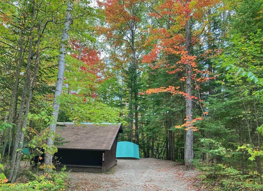 The Willow Lean-To in Brighton State Park Vermont