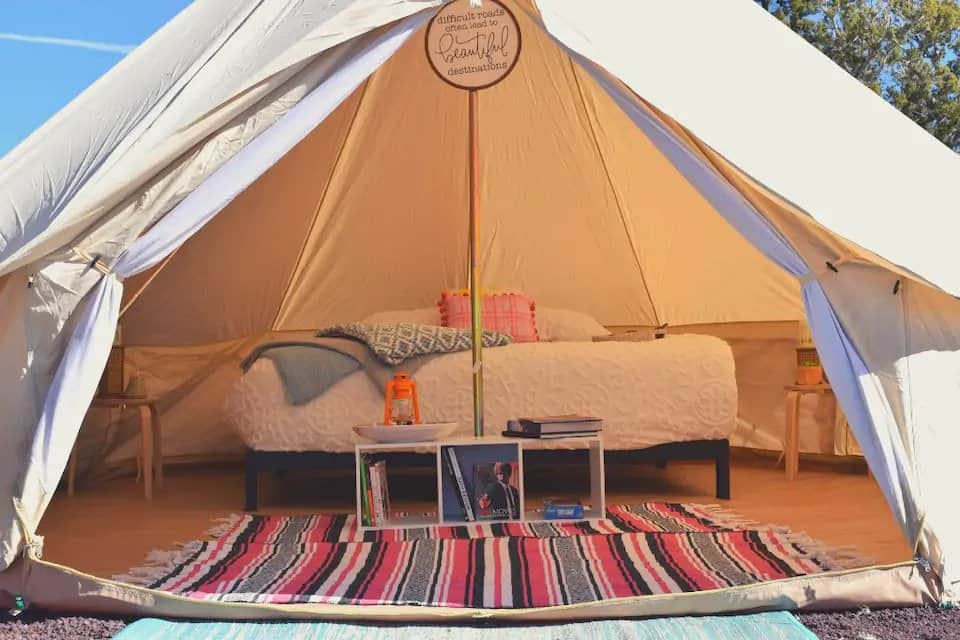A private glamping tent near the Grand Canyon on Airbnb