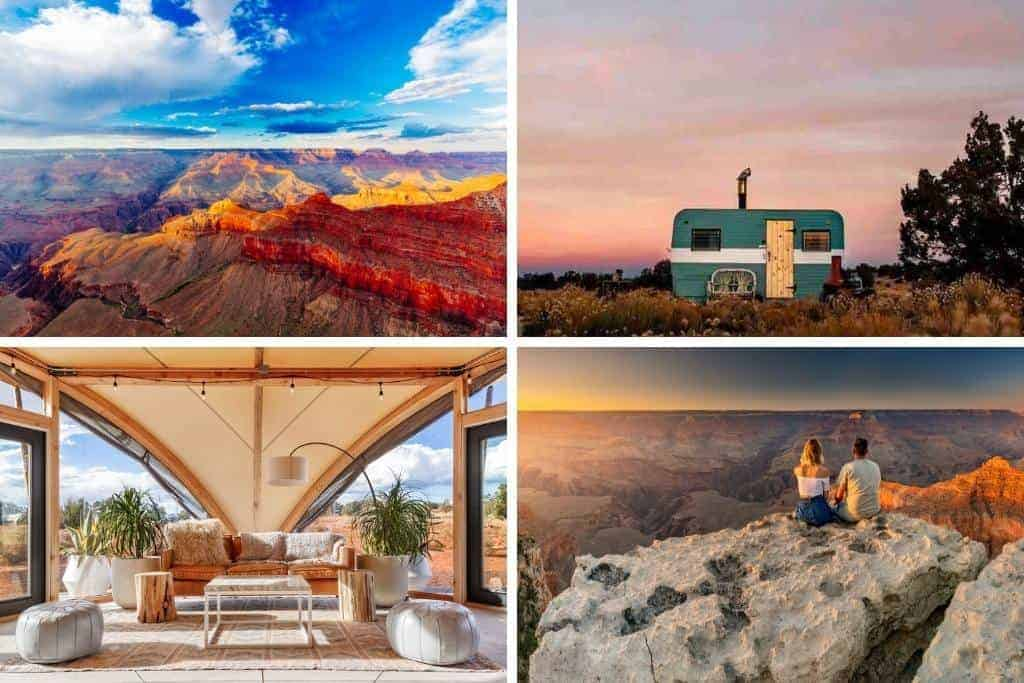 Photos of Glampings spots near the Grand Canyon. Photo credits: Airbnb