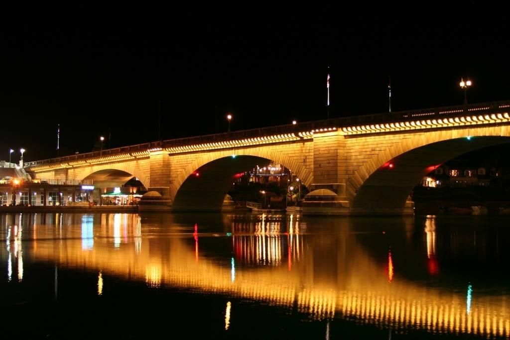 The London Bridge in Lake Havasu City at Night