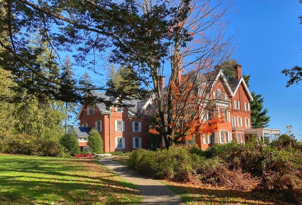 The main house at Marsh-Billings-Rockefeller National Historic Park in Woodstock Vermont