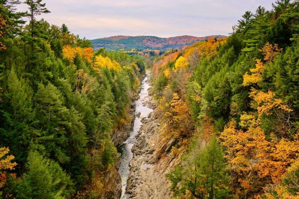 Quechee Gorge as seen from the Route 4 bridge