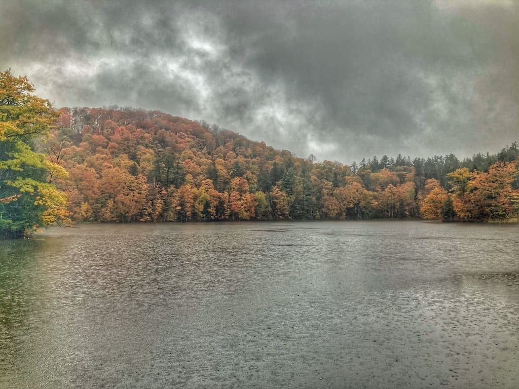 The Pogue on a rainy fall day in Woodstock, Vermont