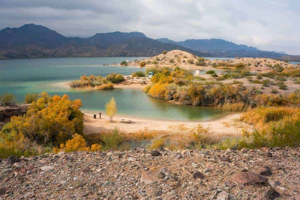 The shores of Lake Havasu in Arizona