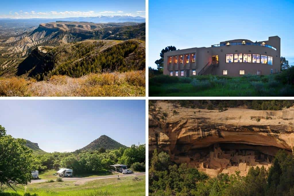 A collage of photos featuring Mesa Verde National Park