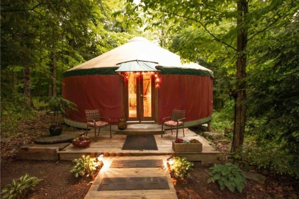 A yurt in Fairhaven VT for rent on Airbnb