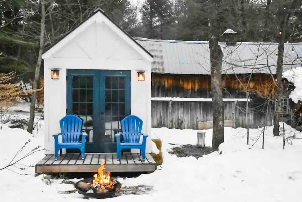 A tiny home rental in Jamaica, Vermont. Photo credit: Airbnb