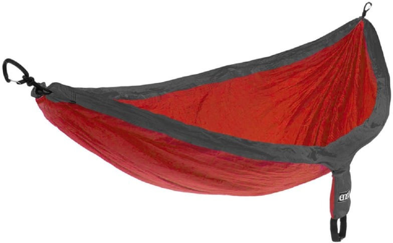 A red hammock by ENO. Photo source: REI