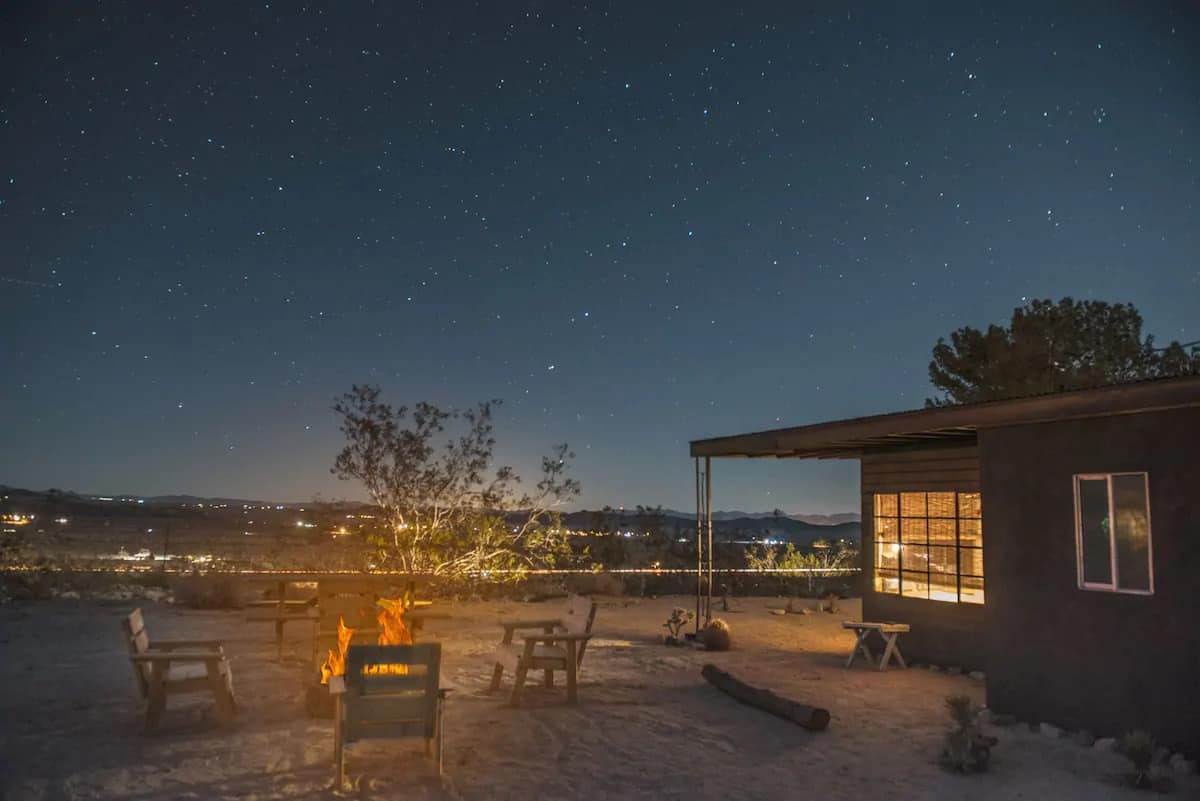 A cabin for rent in Joshua Tree on Airbnb. Photo credit: Airbnb