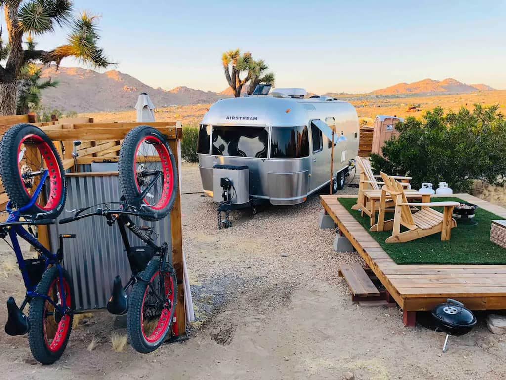 An Airstream for rent in Joshua Tree. Photo credit: Airbnb