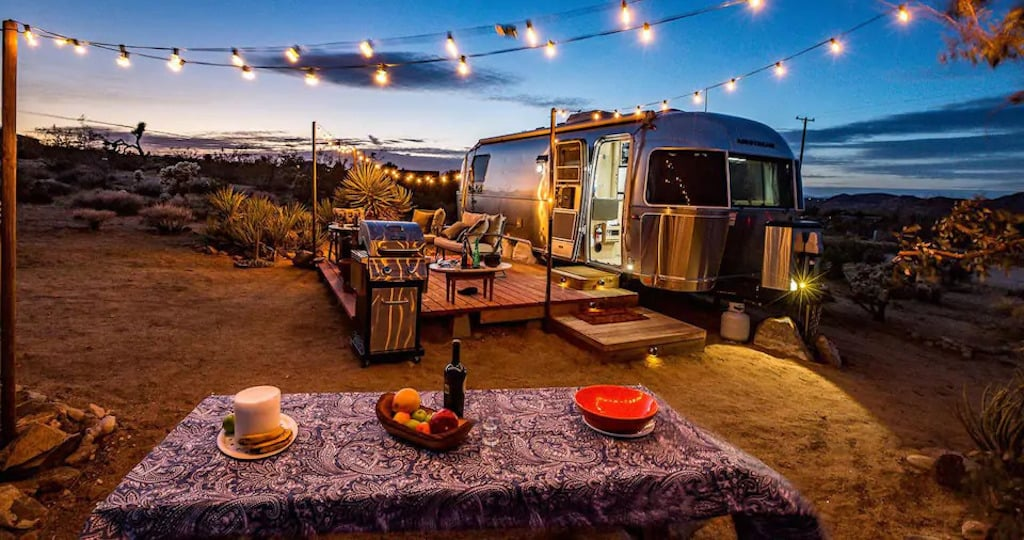 An Airstream for rent in Joshua Tree California