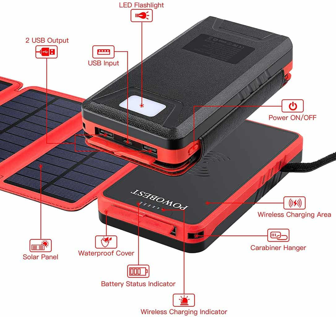 A solar charger for a phone. Photo credit: Amazon