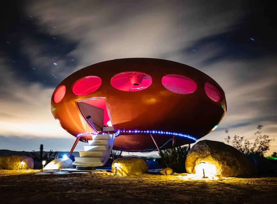 An original Futuro House for rent in Joshua Tree. Photo credit: Airbnb