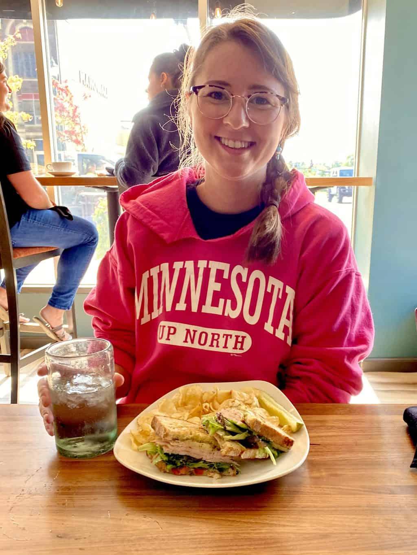 grabbing lunch in St. Cloud MN
