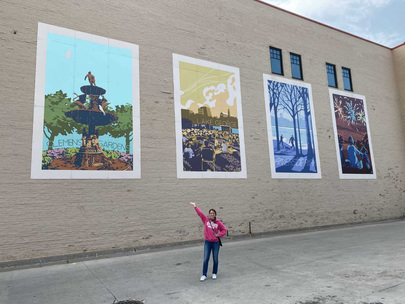 murals in downtown St. Cloud MN