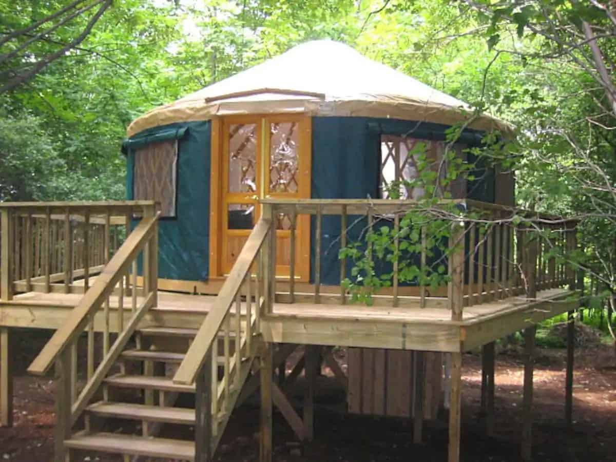 A yurt for rent in East Meredith, NY. Photo source: Airbnb