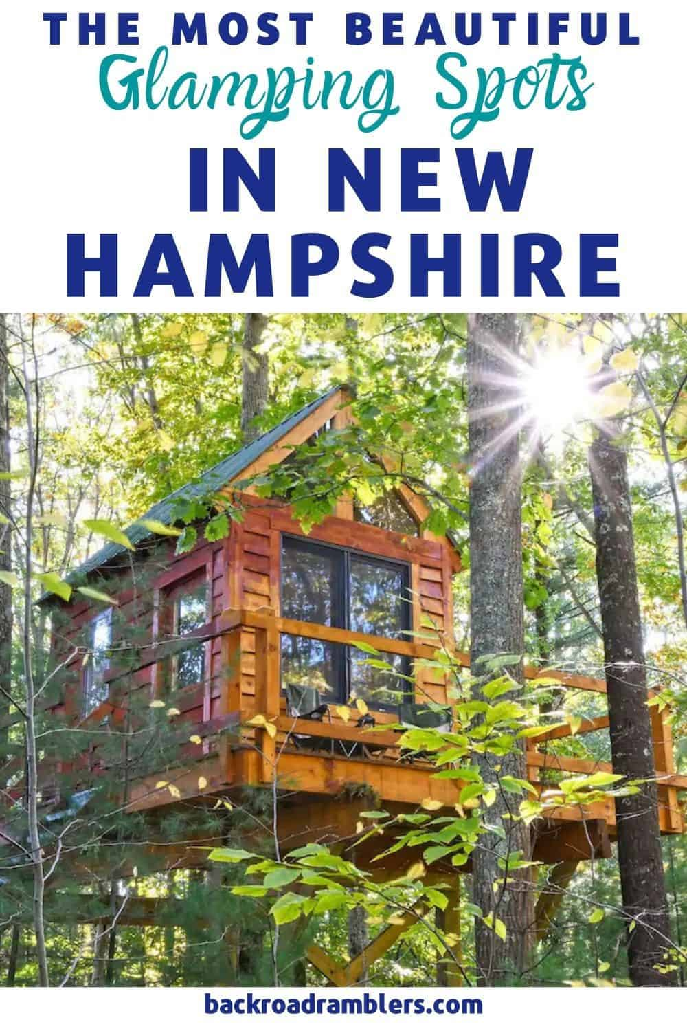 A treehouse in New Hampshire. Photo source: Airbnb