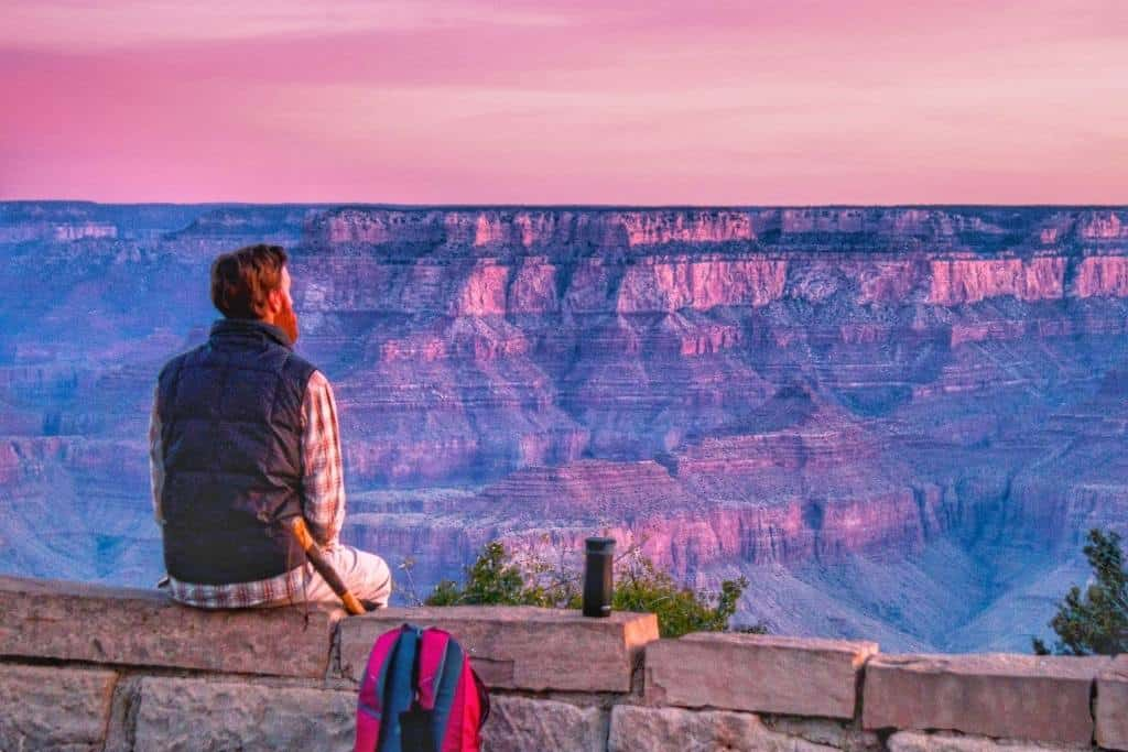 Sunrise at Mather Point in Grand Canyon National Park