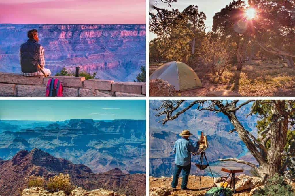 A collage of nature photos from Grand Canyon National Park