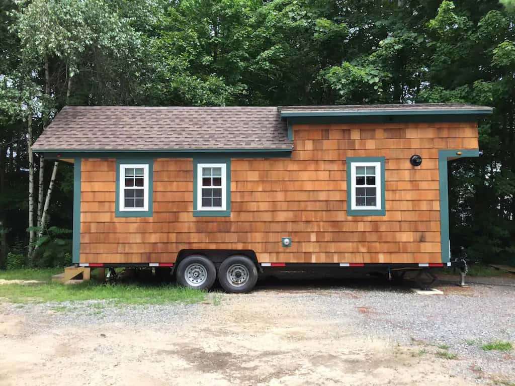 tiny house rental in Epping, NH. Photo source: Airbnb