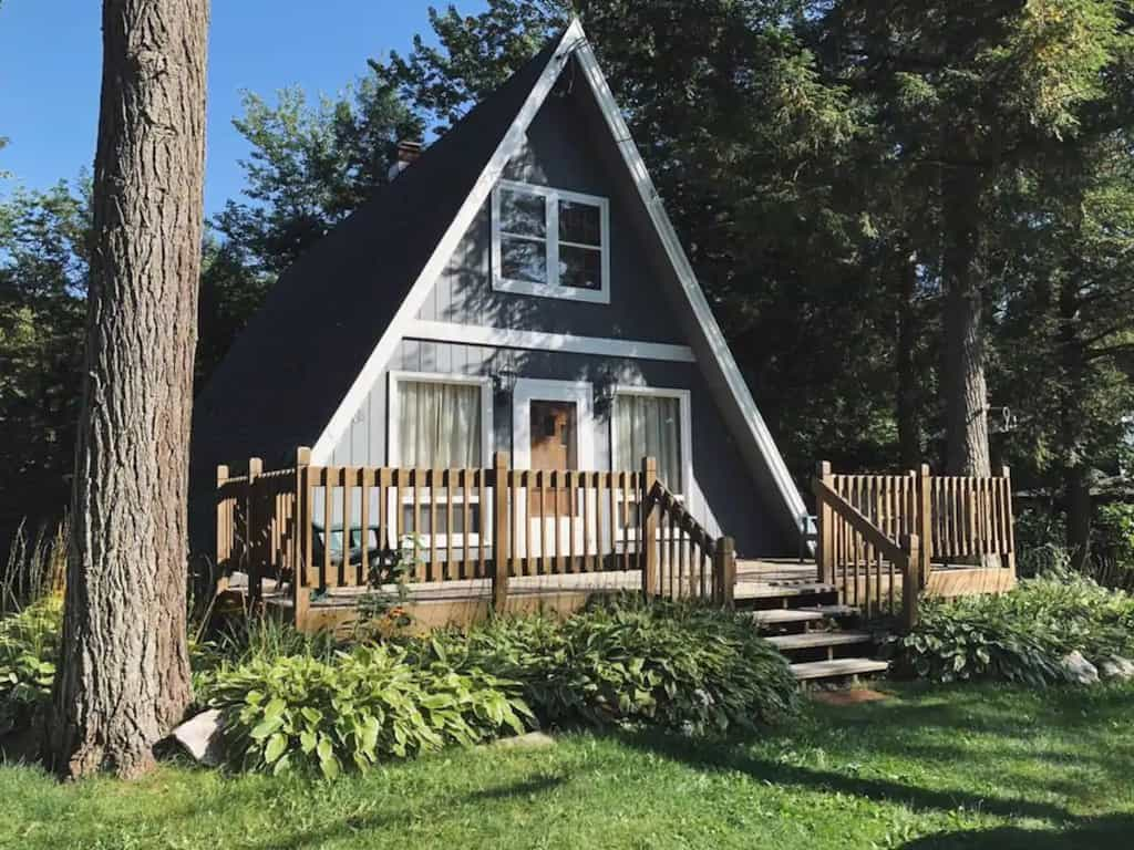 A Vermont A-frame for rent on Airbnb. Photo source: Airbnb