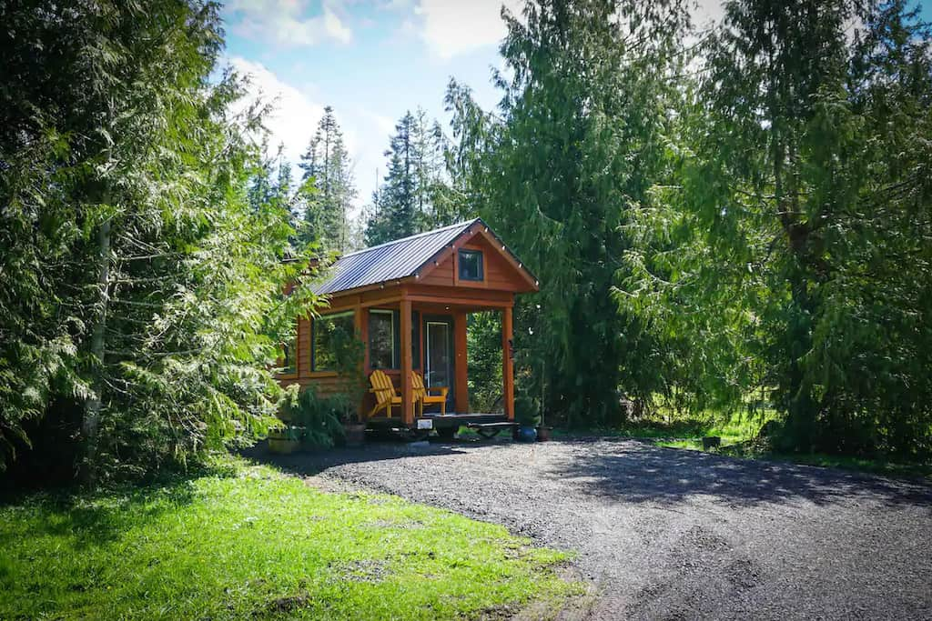 A tiny home for rent in Sequim, Washington. Photo credit: Airbnb