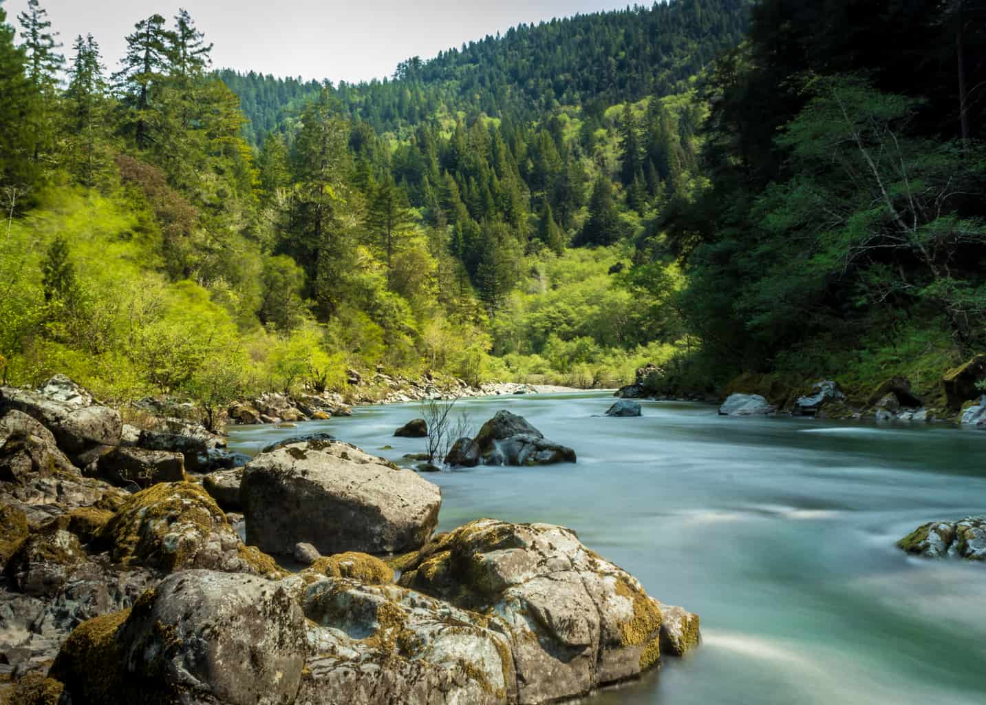 The Smith River in Northern California.