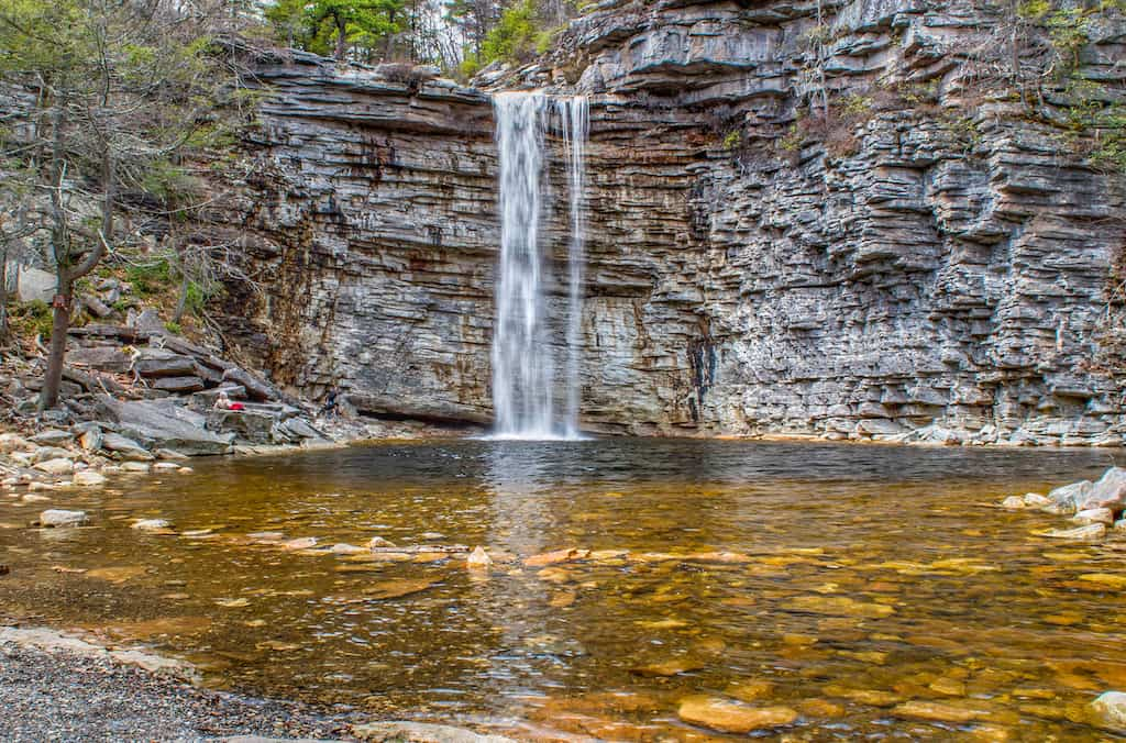 Awosting Falls in Minnewaska State Park in New York.
