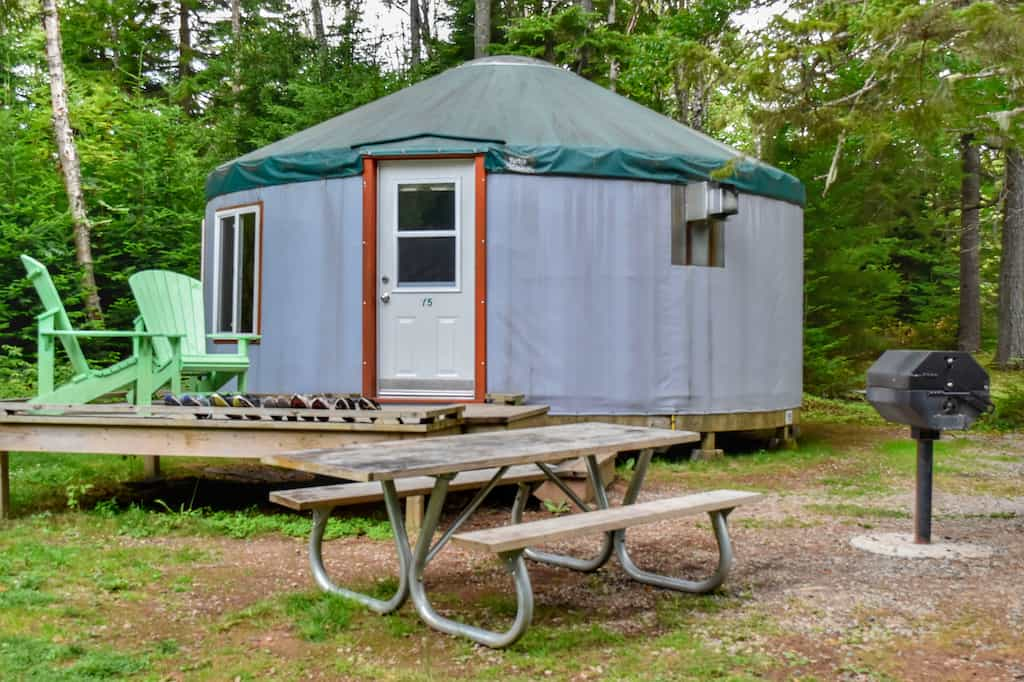 A yurt in Fundy National Park in New Brunswick, Canada.