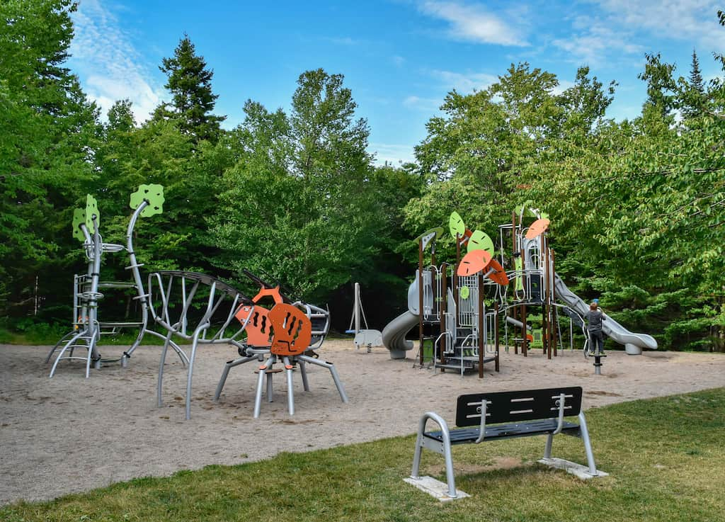 The playground in Chignecto Campground in Fundy National Park.