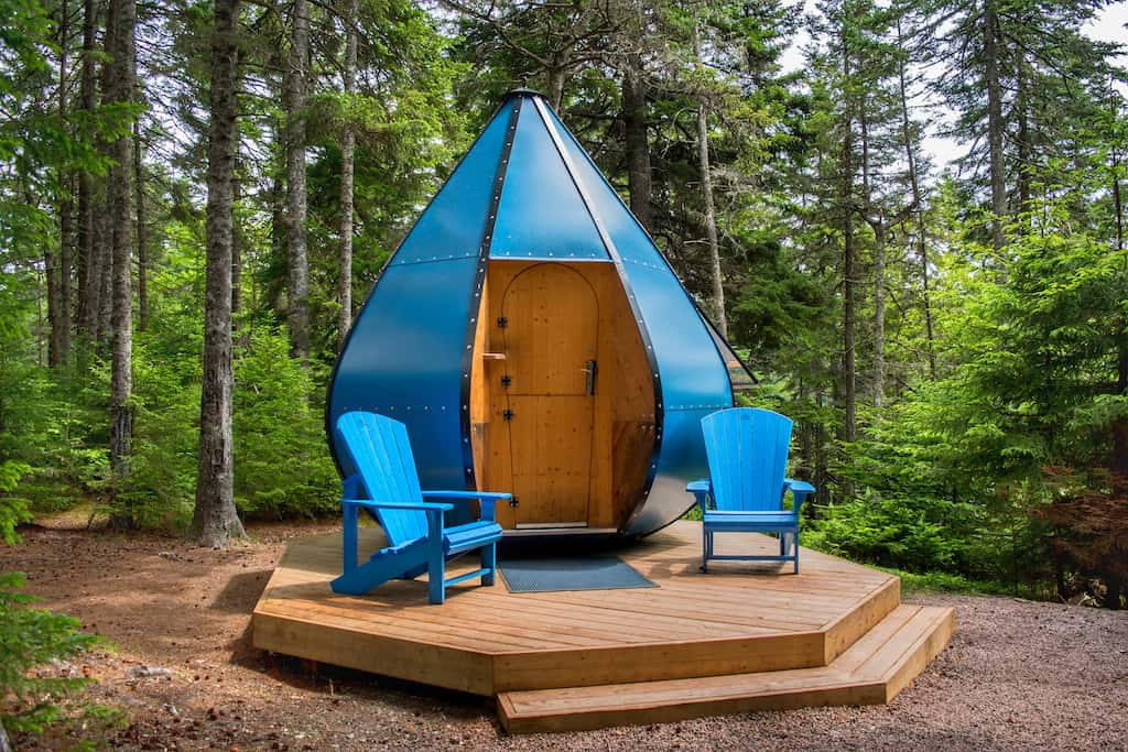 The Oasis camping pod in Fundy National Park, New Brunswick.