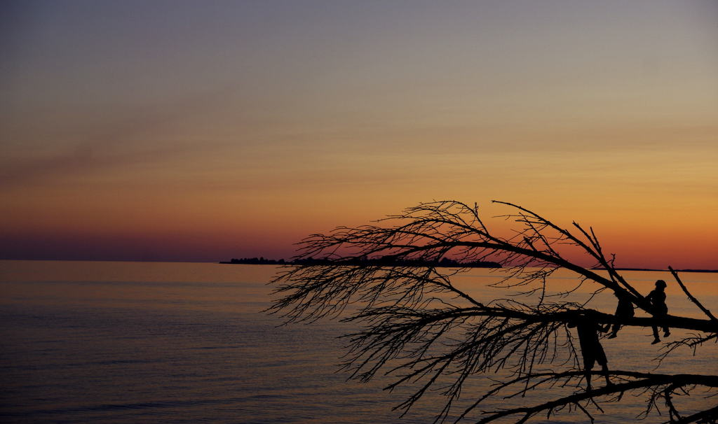Presqu'ile Provincial Park at sunset.