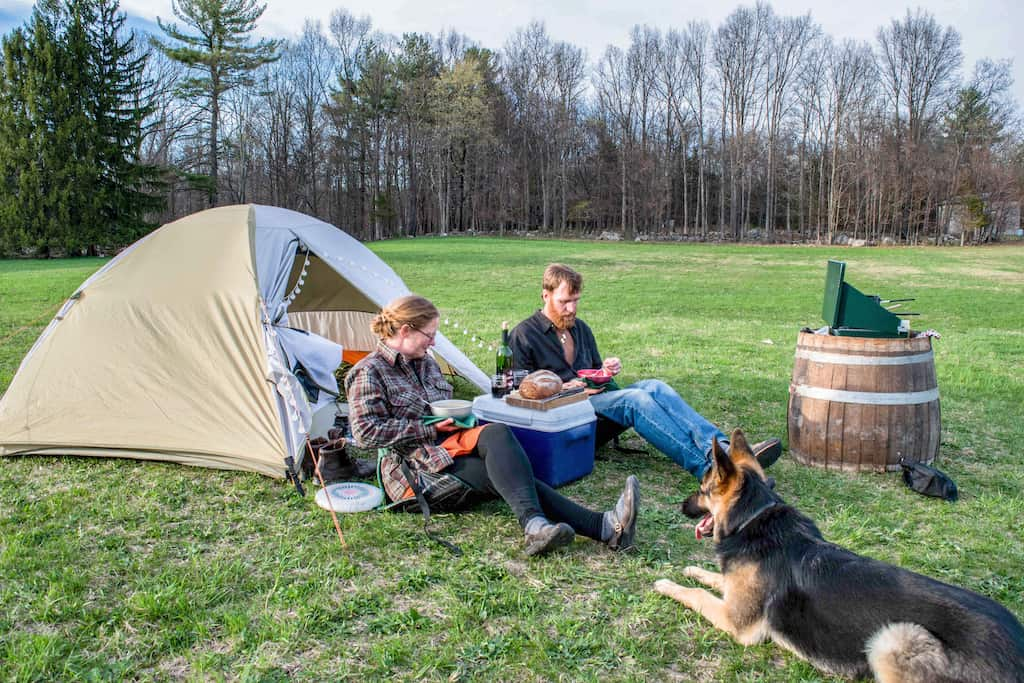 Camping at Robibero Winery in New Paltz, New York.