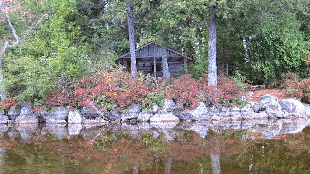 A waterfront cabin in Maine that is available for rent on VRBO. Photo credit: VRBO