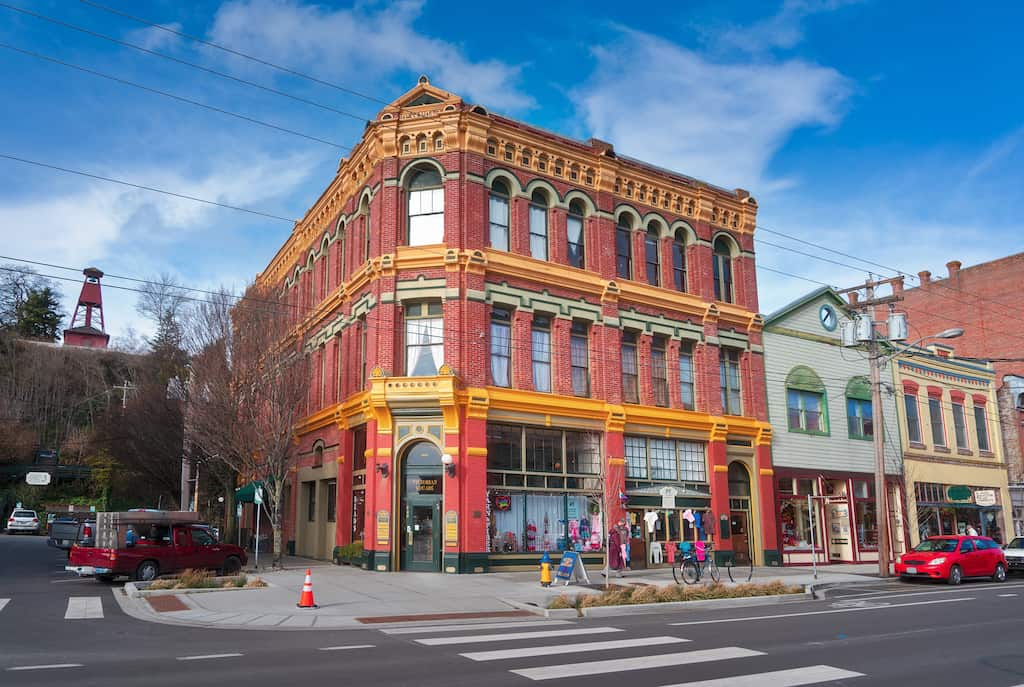 A historic building in downtown Port Townsend, Washington.