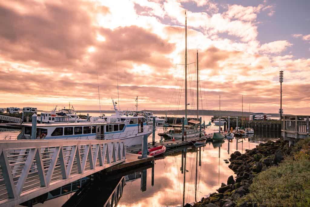 Port Townsend Washington at sunrise