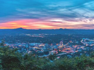 View of Roanoke, Virginia from Mill Mountain