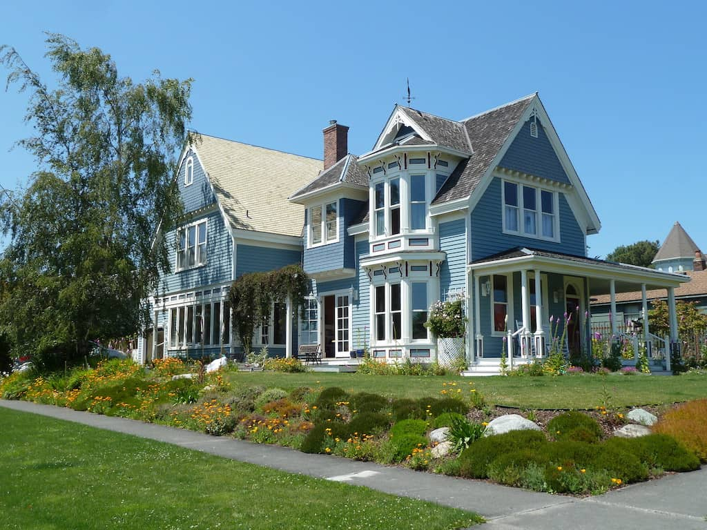 A Victorian home in uptown Port Townsend, Washington.