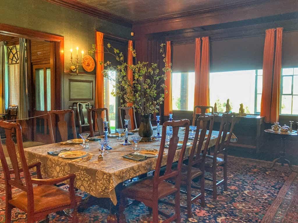 The dining room at Naumkeag in Stockbridge MA.