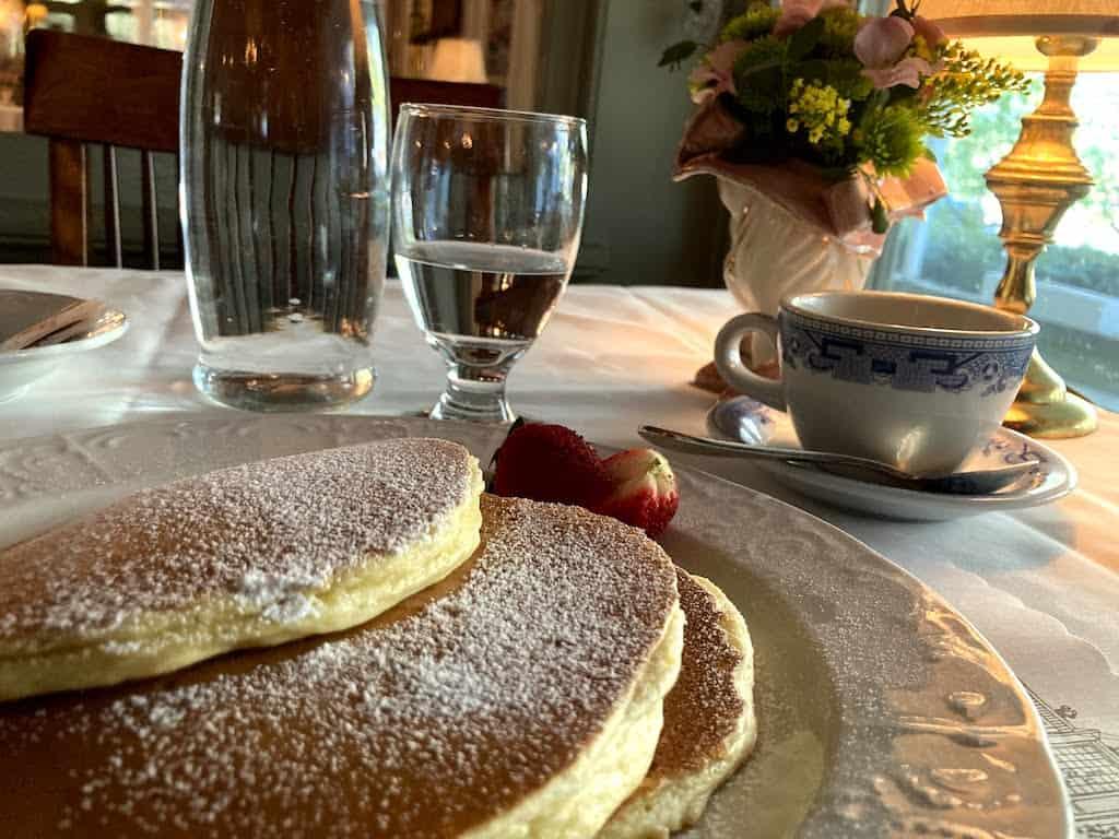 Pancake breakfast at the Red Lion Inn in Stockbridge, MA.