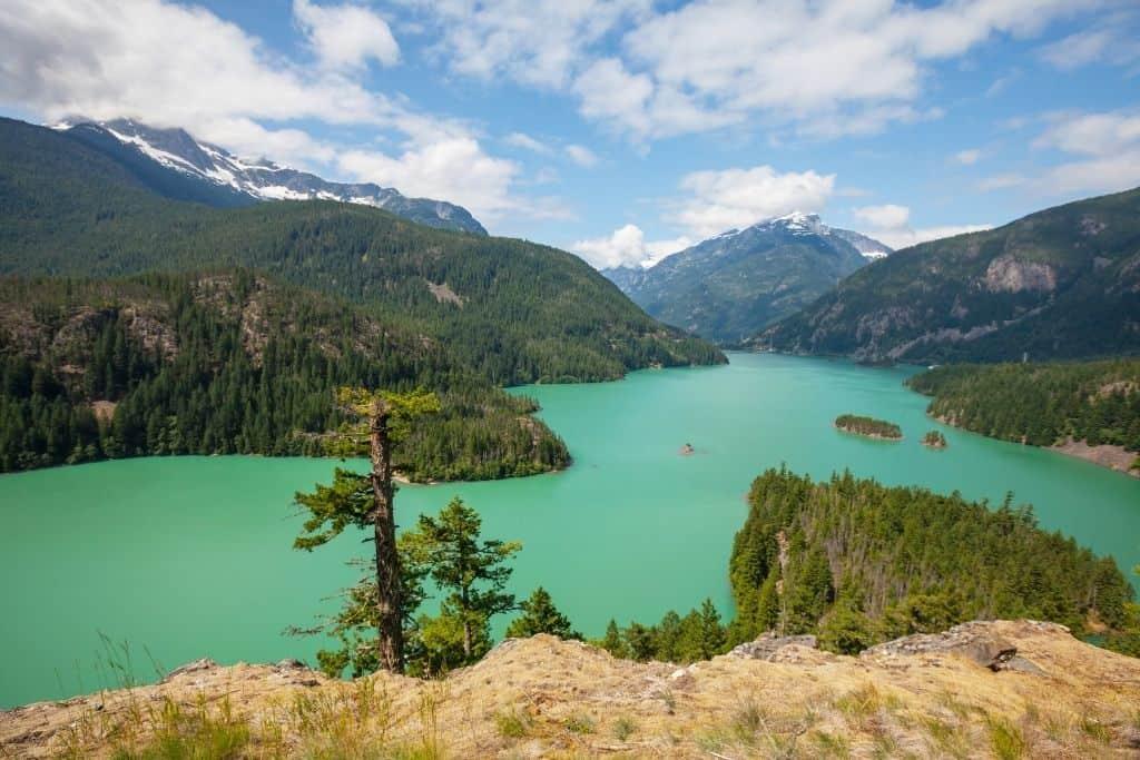Diablo Lake in North Cascades National Park, Washington.