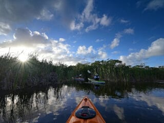 A kayak in Everglades National Park