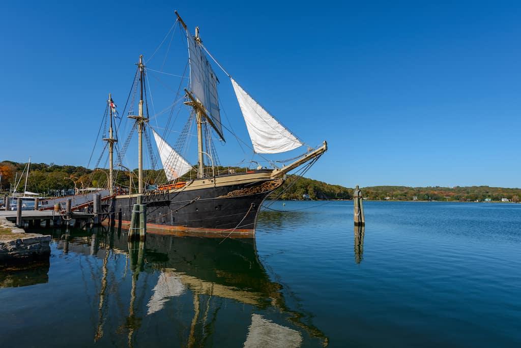 The Joseph Conrad ship at Mystic Seaport in Connecticut.