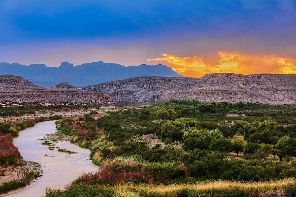 The Rio Grande in Big Bend National Park, Texas.