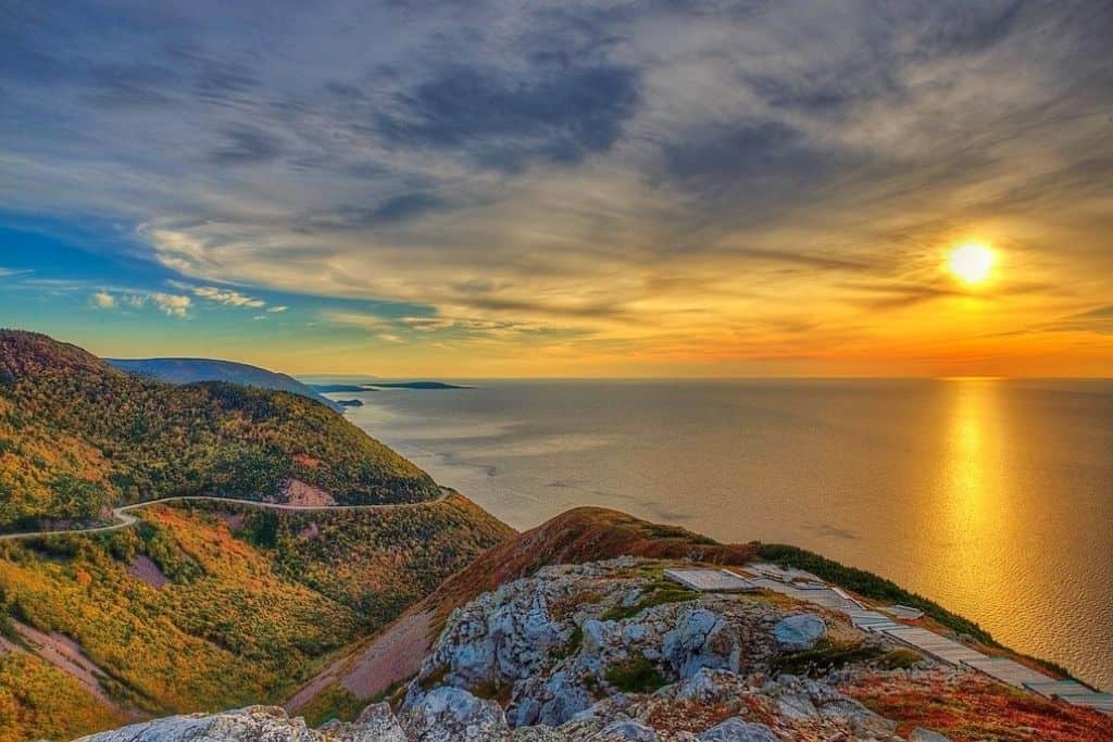 Sunset from the Skyline Trail in Cape Breton Highlands National Park.