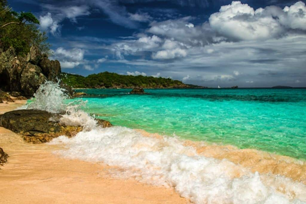 A shallow bay in Virgin Islands National Park.
